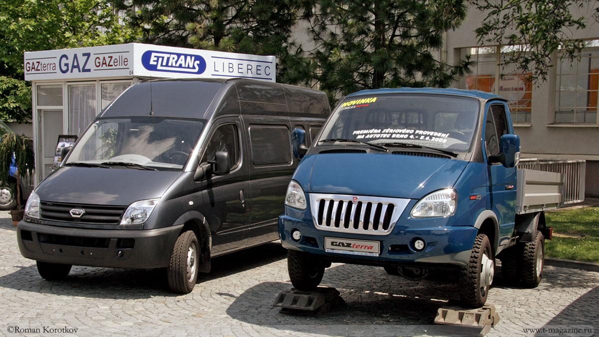 Малый коммерческий транспорт – грузовики ГАЗель с бортовым и цельнометаллическим кузовами