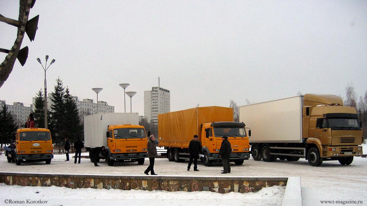 Линейка грузовиков КамАЗ