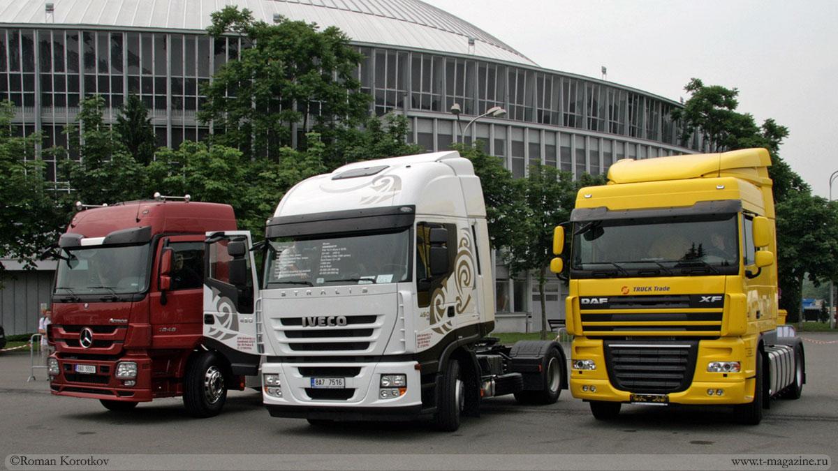 Грузовики DAF, Iveco, Mercedes