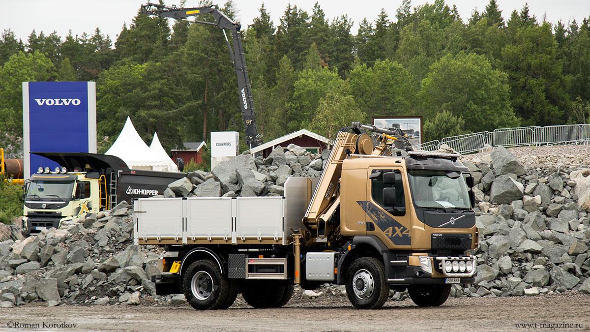 Бортовой грузовик Volvo с КМУ