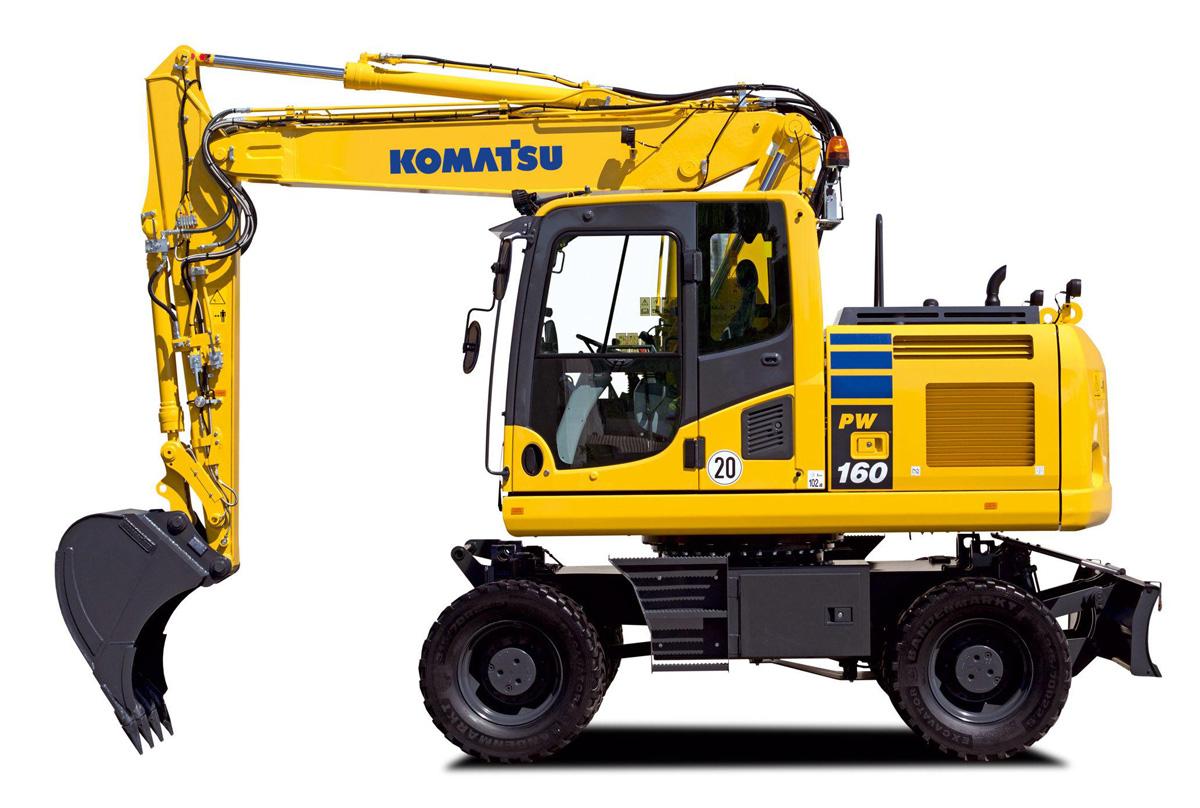 Колёсный экскаватор Komatsu PW 160